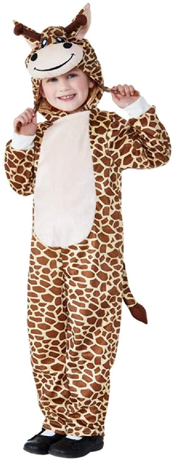 Toddler Boys Girls Wild Giraffe Jungle Zoo Animal Book Day Carnival Fancy Dress Costume Outfit 1-4 Years