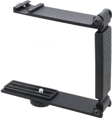 Aluminum Mini Folding Bracket for Canon EOS Rebel SL2 (Accommodates Flashes, Lights Or Microphones)