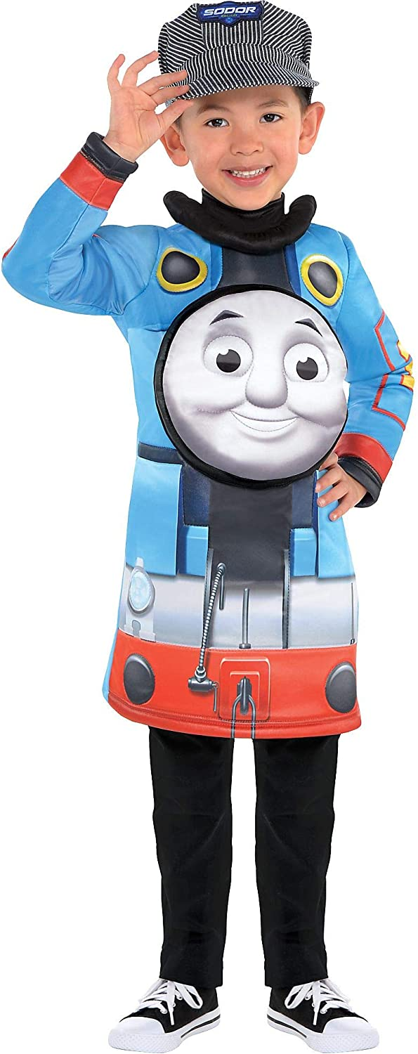 Suit Yourself Thomas the Tank Engine Halloween Costume for Toddler Boys, Includes Hat