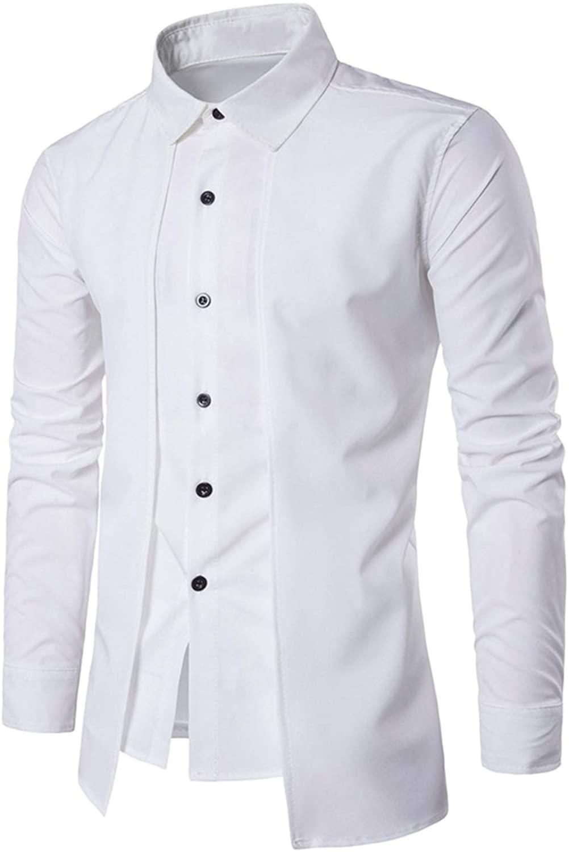 small-shop Shirt Men Casual Slim Fit Shirts Long Sleeve Turndown Collar Mens Dress Shirts
