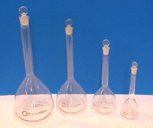 4 Piece Volumetric Flask Set