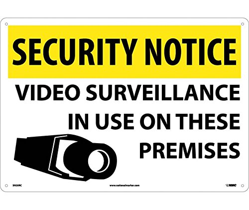 SECURITY NOTICE, VIDEO SURVEILLANCE IN USE ON THESE PREMISES, 14X20, RIGID PLASTIC (3 Pack)