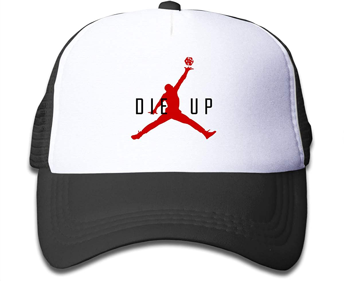 Die Up Children's Adjustable Mesh Hats Trucker Cap for Boys and Girls
