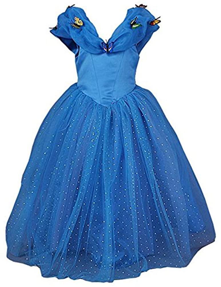 GoodCorsetMall Cinderella Dress Princess Costume Dress with Butterflies Girls