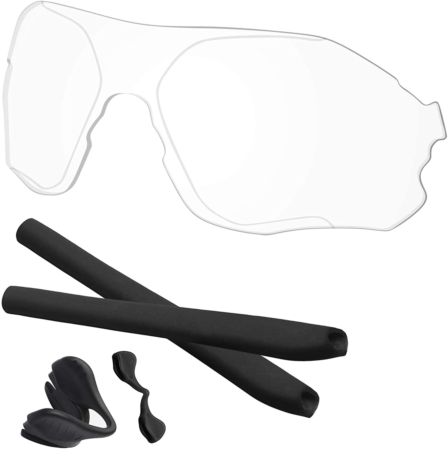 Predrox EVZero Range Lenses & Rubber Kits Replacement for Oakley Polarized OO9327 Sunglass