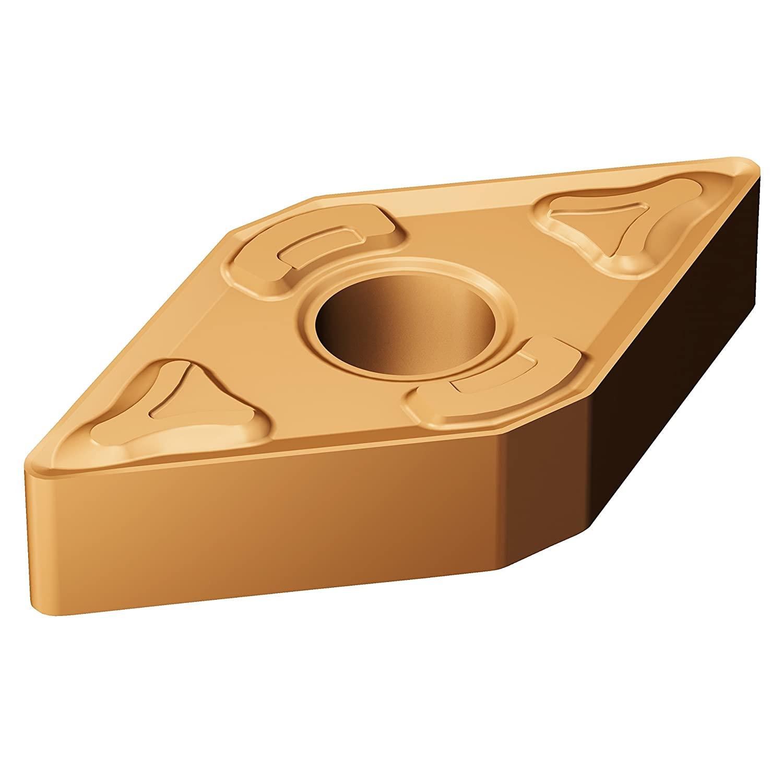 Sandvik Coromant, DNMG 431-XM GC15, T-Max P Insert for Turning, Carbide, Diamond 55°, Neutral Cut, GC15 Grade, (Ti,Al) N+(Al,Cr)2O3