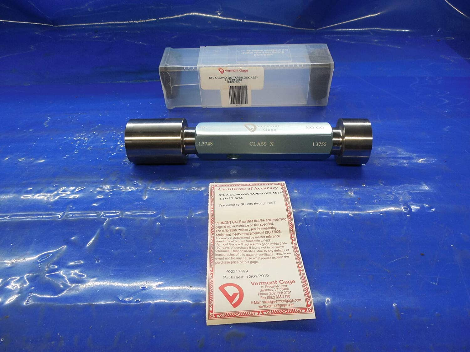 New 1.3748 & 1.3755 Class X Smooth PIN Plug GAGE GO NO GO Under & Oversize 1 3/8