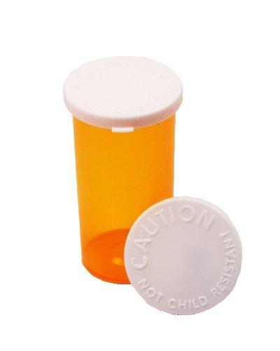 Prescription Pharmacy Vials -Amber Medicine Bottle - 30 Dram- Snap Caps - Pack of 12 -Medicine & Pill Container, Pharmacy Bottle, Pharmacy Container, Plastic Container