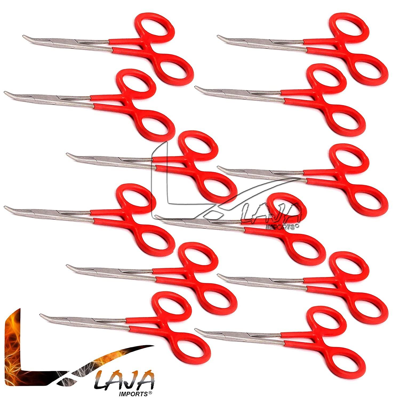 LAJA Imports 12 Hemostats Mosquito Forceps Instruments, Dep Handle 5