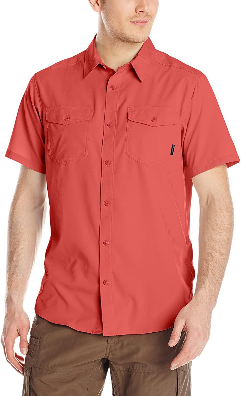 Columbia Sportswear Men's Utilizer II Solid Short Sleeve Shirt, Sunset Red, X-Large