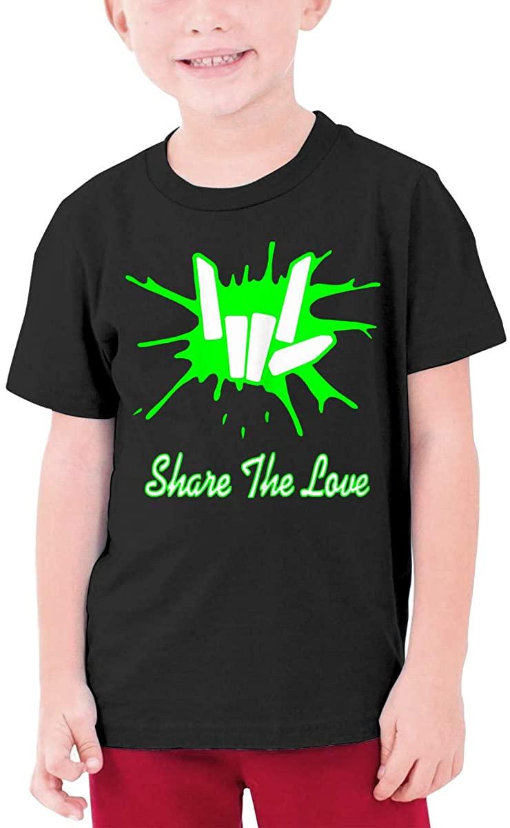 Cute Fingers Share Love Boys Girls Short Sleeve T-Shirt