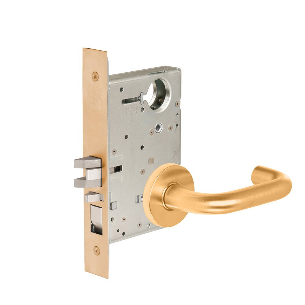 CORBINRUSSWIN ML2051-LWA-612-LC 612 Satin, Lever LWA Lustra, Entrance/Entry/Office, Steel; Stainless Steel; Bronze