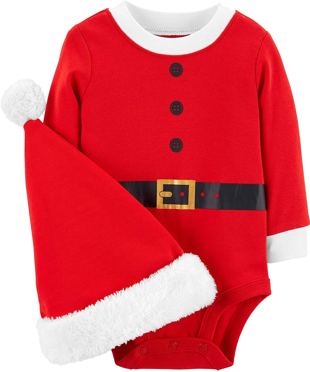 Carter's Unisex Baby 2-Piece Christmas Bodysuit & Hat Set