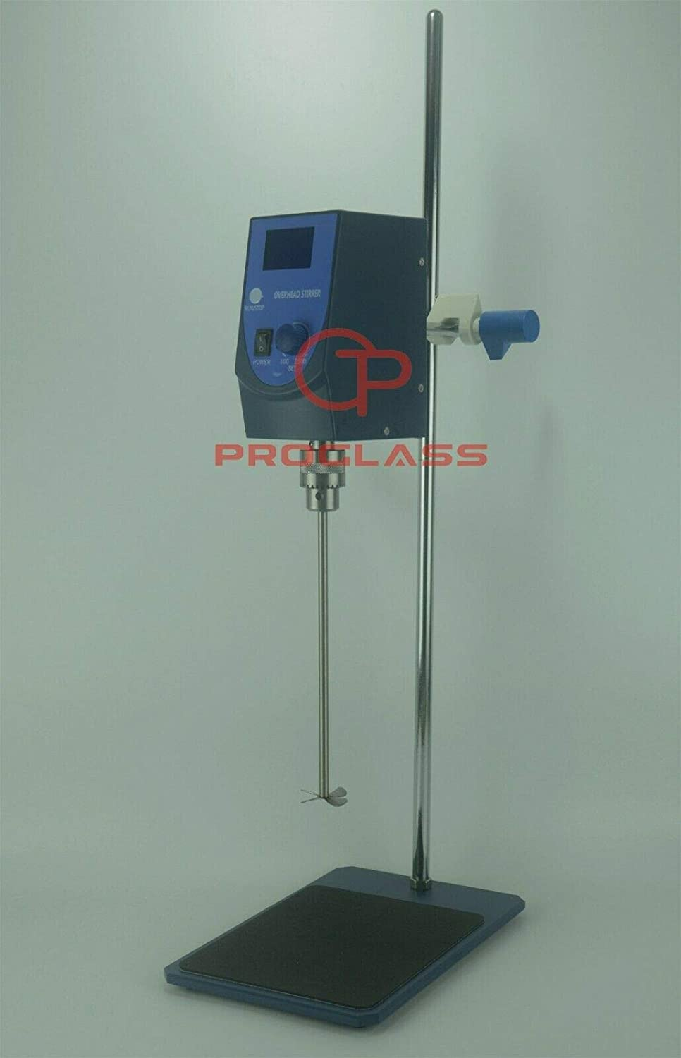 Proglass 40L Electric Overhead Stirrer LCD Digital Overhead Stirrer Mixer with Stirring Rod and Stand 100-2500RPM