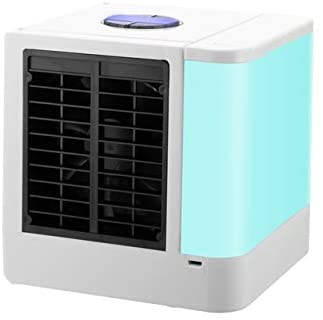 Mini Portable Air Conditioner, Mini Ultra-quiet Fan Personal Space Air Cooler, Multi-function 7 Color Night Light Portable Air Conditioner for Bedroom Office Kitchen Travel Air cooler ( Color : LED )