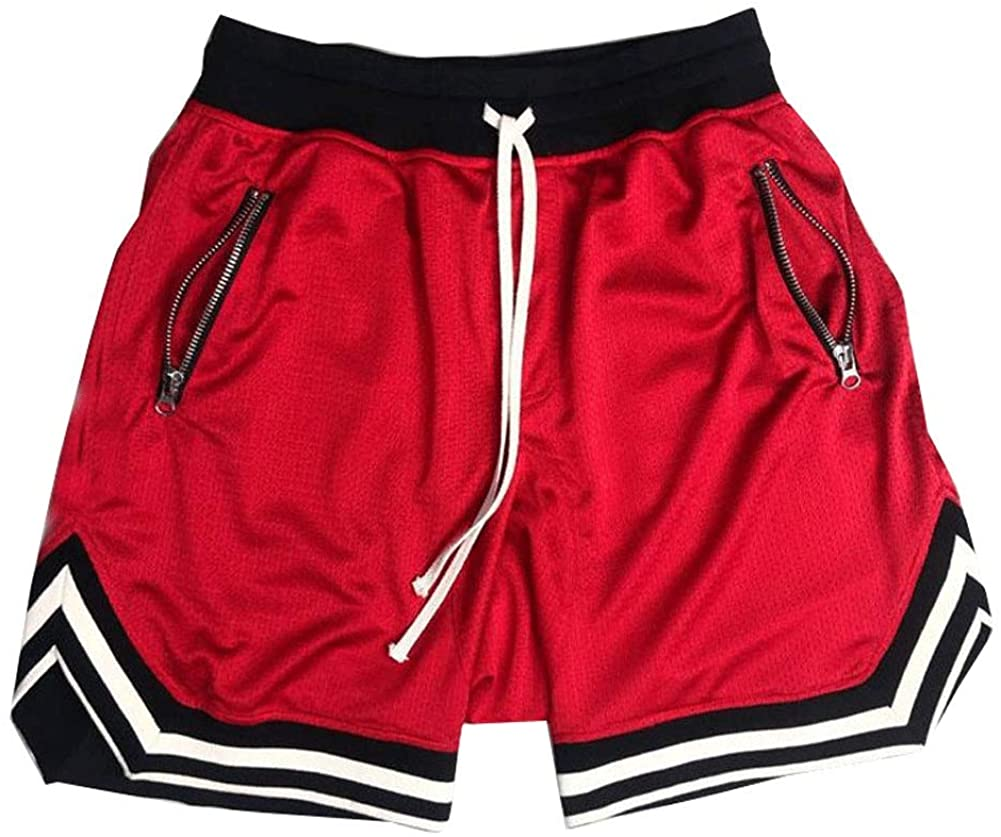 Astellarie Mens Casual Hip Hop Athletic Basketball Gym Sport Shorts with Drawstring
