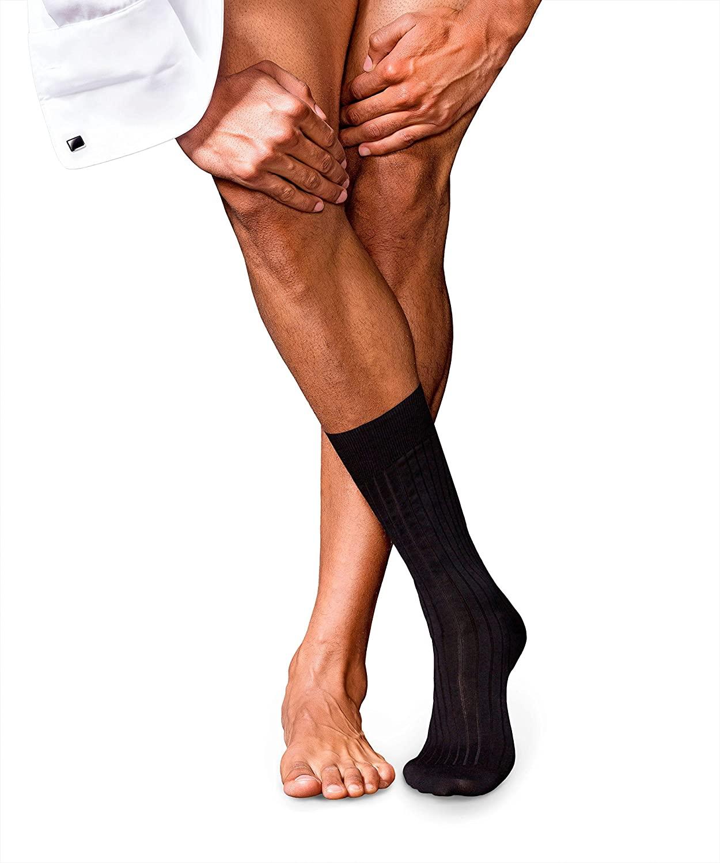 FALKE Mens No. 13 Finest Piuma Cotton Dress Sock - 95% Cotton, Black, US sizes 6.5 to 13.5, 1 Pair