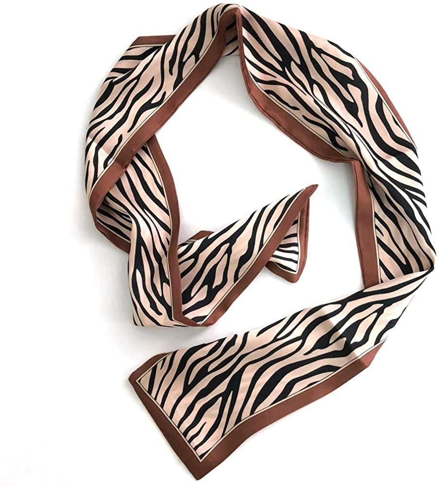 JaneOft Skinny Neck Scarf, 40 Inches Purse Scarf Handbag Handle Wrap