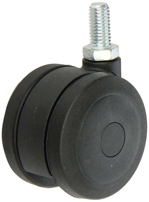 Shepherd Ultima Series 75mm Diameter Un-Hooded Twin Urethane Wheel Caster, 1/2
