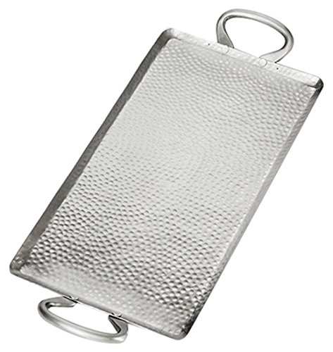 American Metalcraft G21 Hammered Stainless Steel Griddle, Small Rectangle, 1-1/2