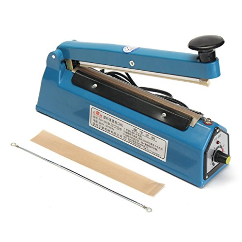 New 220V 180W Impulse Heat Sealer Sealing Machine Plastic Bag Closer Teflon PTFE Sealing 300mm