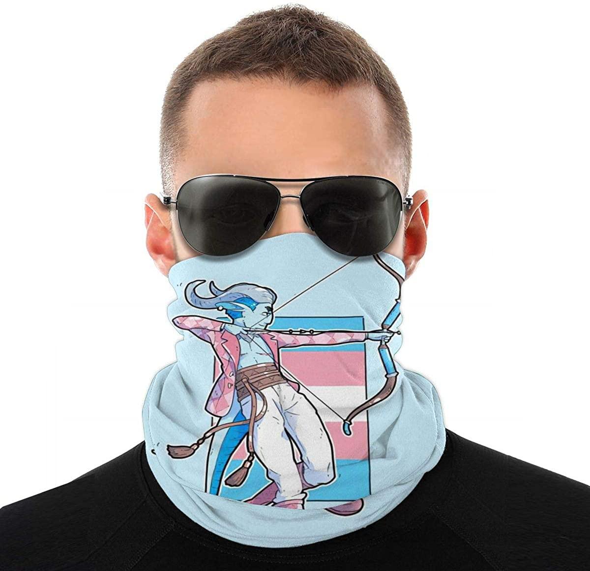Bisexual Pride Gay Bi (128) Novelty Neck Gaiter Unisex Adult Windproof Mask Dust Sports Face Mask Half Balaclava Weather Bandana Women Men Outdoors Festivals