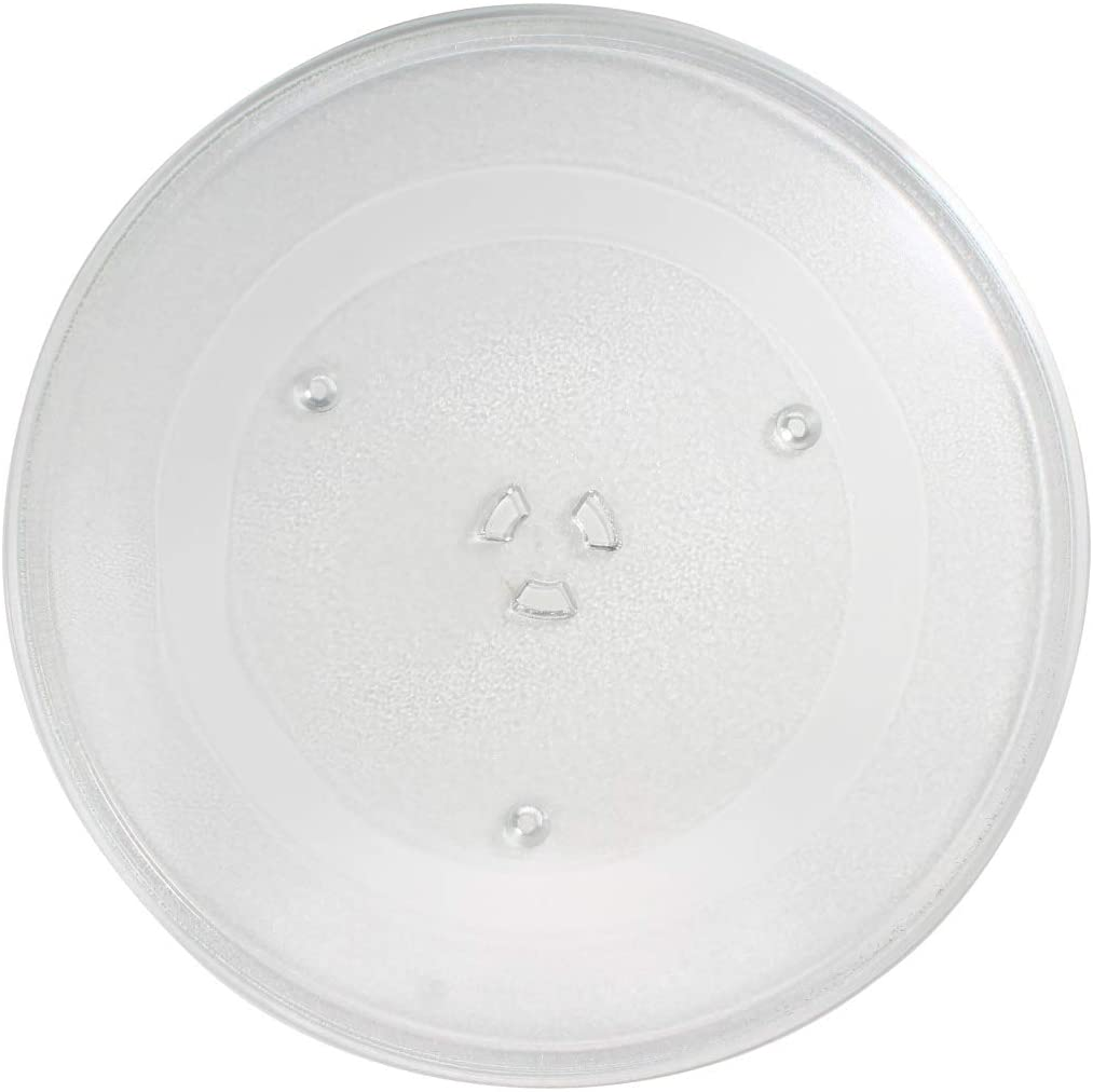 WB49X10063 Microwave Glass Turntable Plate Replacement for General Electric JVM7195DK3BB - Compatible with WB49X10063 14 1/8 Inch Glass Tray