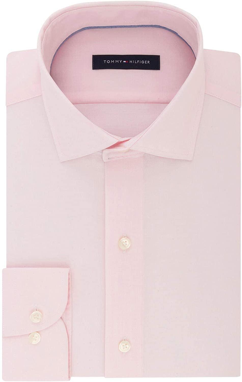 Tommy Hilfiger Mens Dress Shirt Petal Medium Regular Fit Pink M