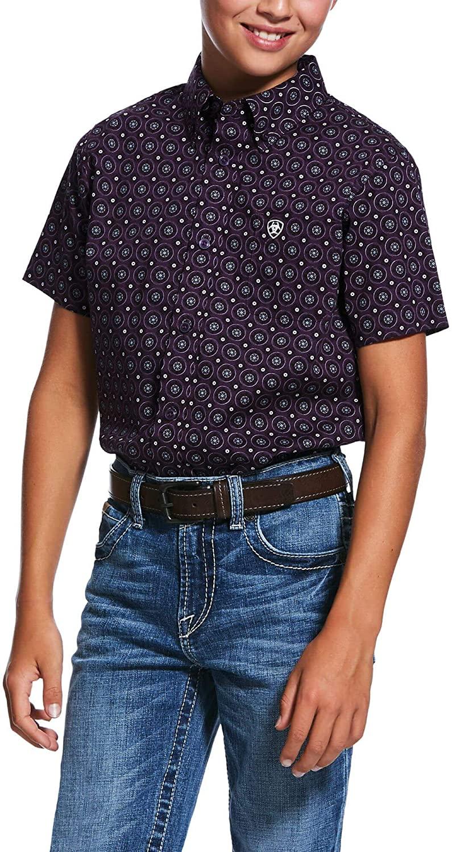ARIAT Big Boys' Redland Print Classic Fit Shirt