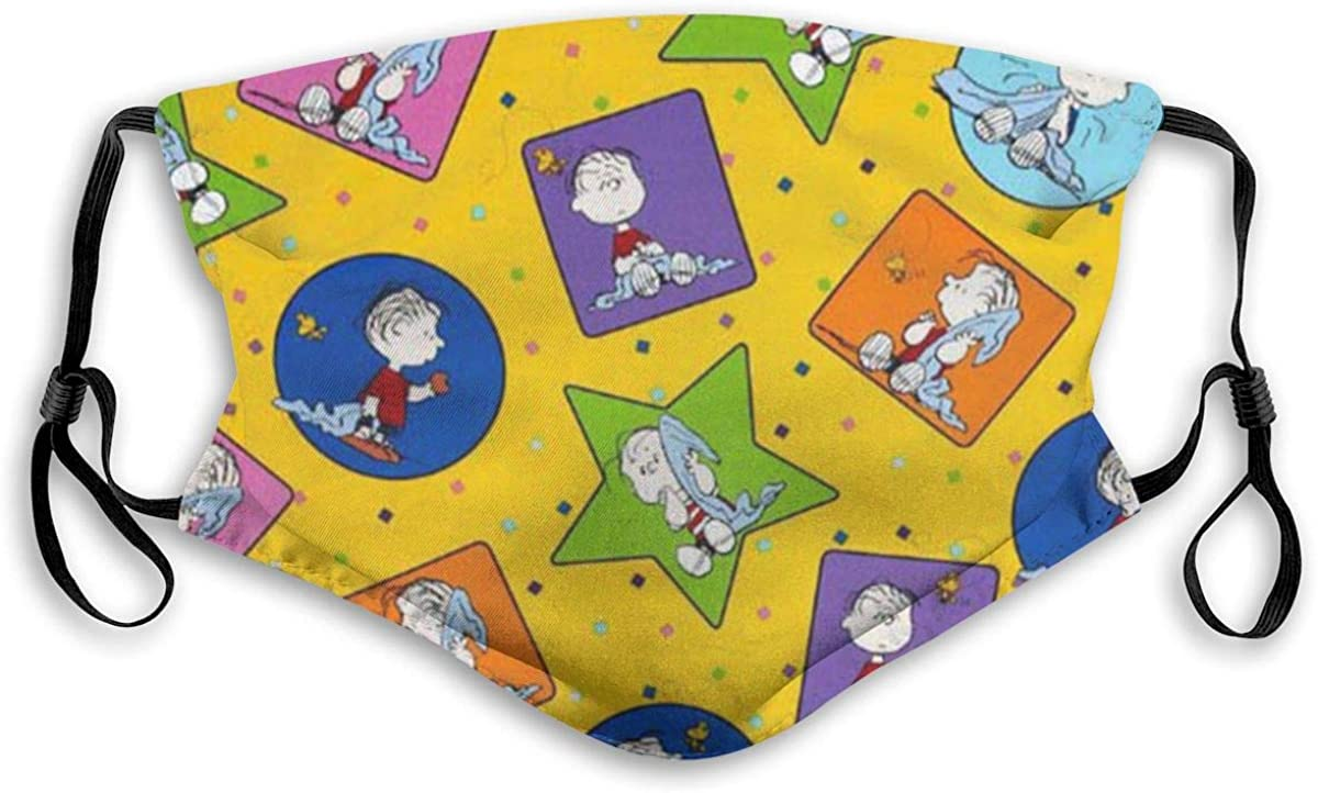 Peanuts Project Linus Face Mask Fashion Scarves UV Protection Waterproof Breathable M