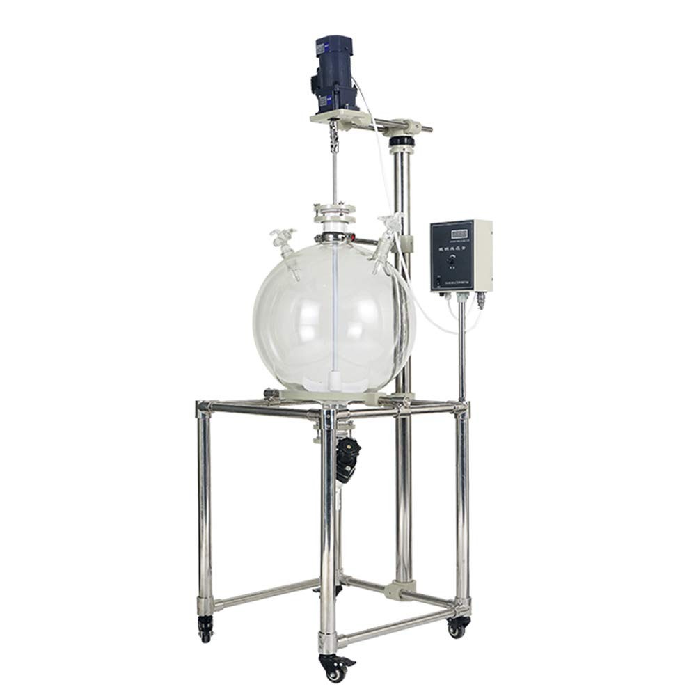 MXBAOHENG 20L Lab Glass Extractor Liquid-Liquid Extraction Equipment Water and Oil Separation 220V/110V 0~600RPM (220V 50Hz)