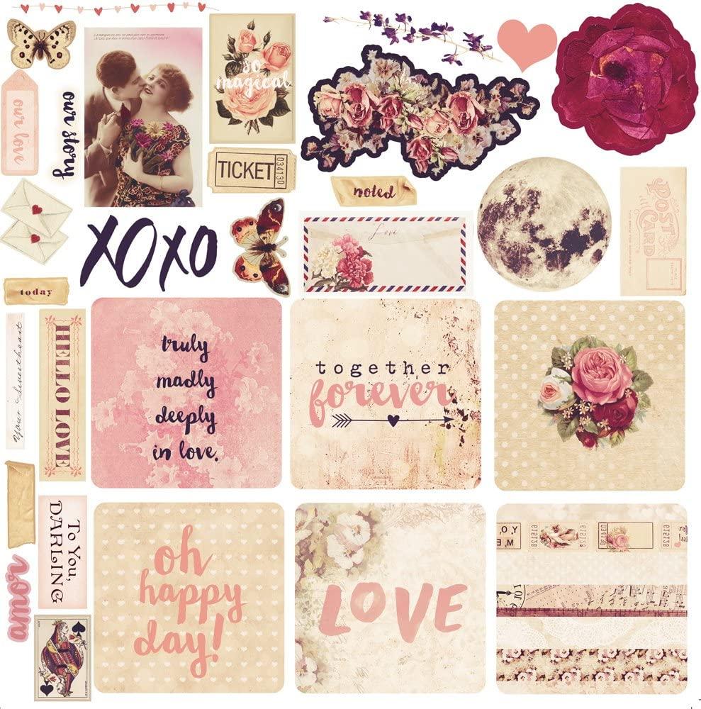 Prima Marketing Ephemera - Love Clippings Art