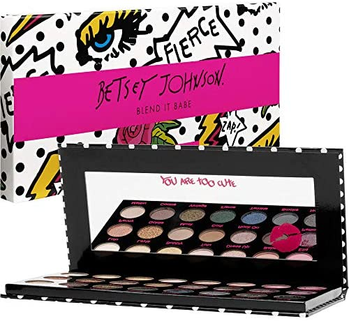 Betsey Johnson Blend It Babe Eye Shadow Palette with 24 Colors, 0.8 g/0.02 oz