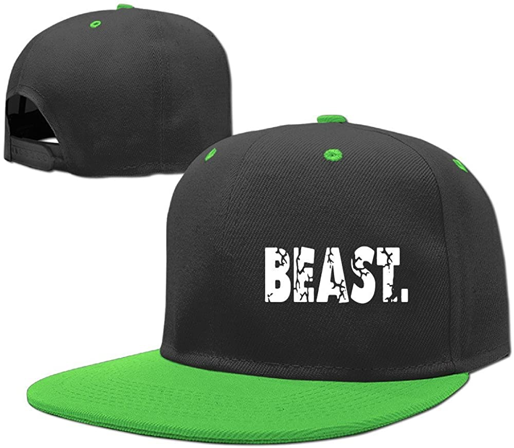 PCY Kids Boy's & Girl's Two-Toned Beast Letter Sporting Caps Red