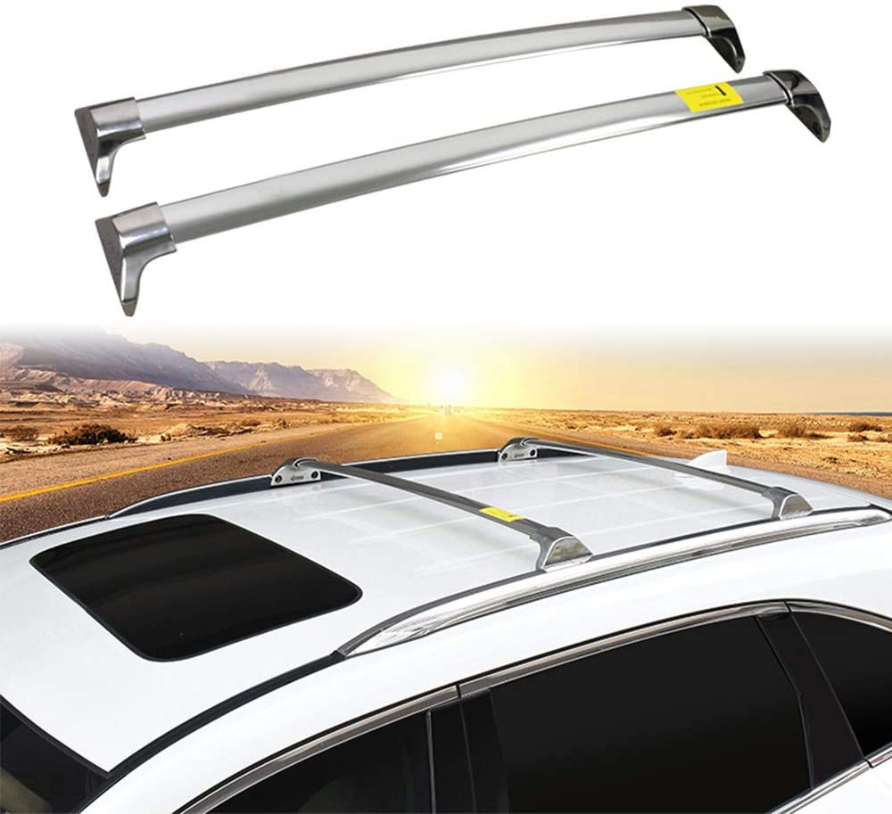 Lequer Stainless Steel Cross Bars Crossbars Fits for Honda Pilot 2016-2020 Holder Baggage Carrier Luggage Roof Rack Rail