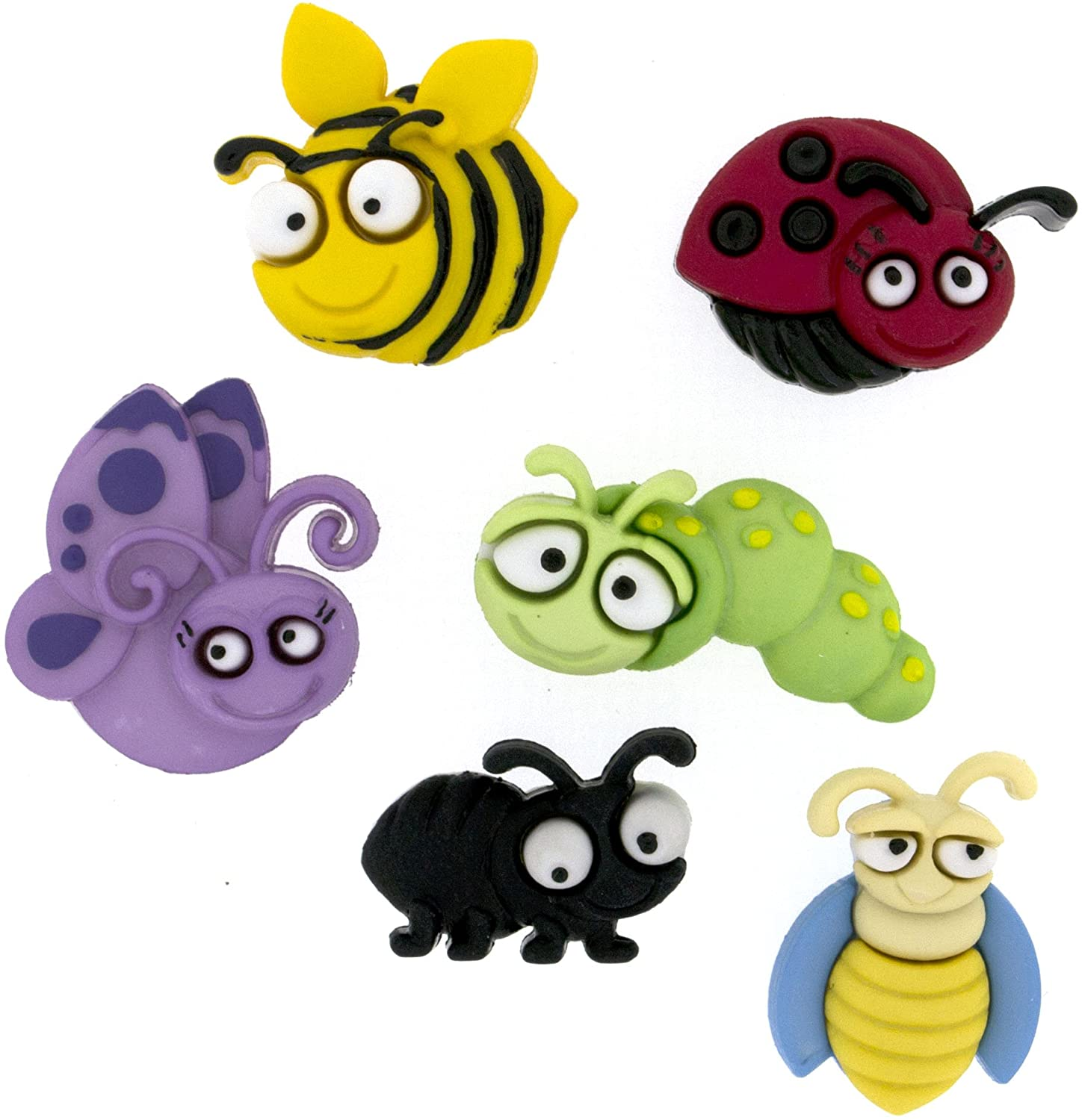Dress It Up Bug Eyed Buttons, Assorted