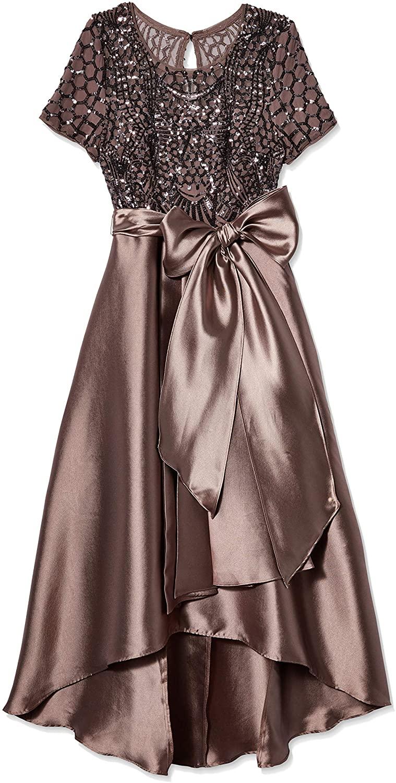 R&M Richards Women's Hi Lo Sequins Elegant Gown