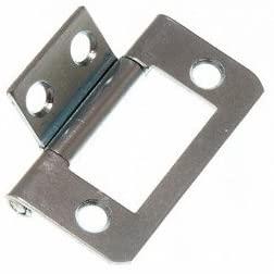 480 x CABINET DOOR FLUSH HINGES BZP ZINC PLATED STEEL 38MM (1 1/2