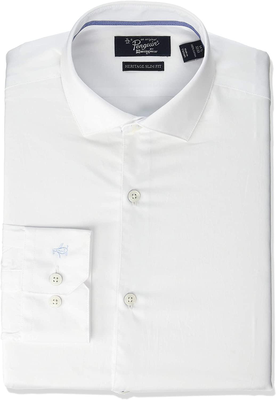 Original Penguin Men's Slim Fit Button-Down Collar Fashion Dress Shirt