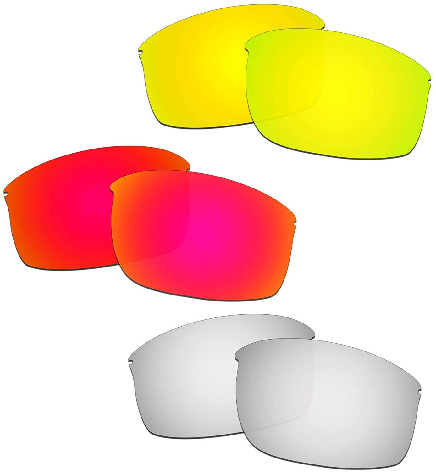 HKUCO Reinforce Replacement Lenses For Oakley Wiretap New Red/24K Gold/Titanium Sunglasses