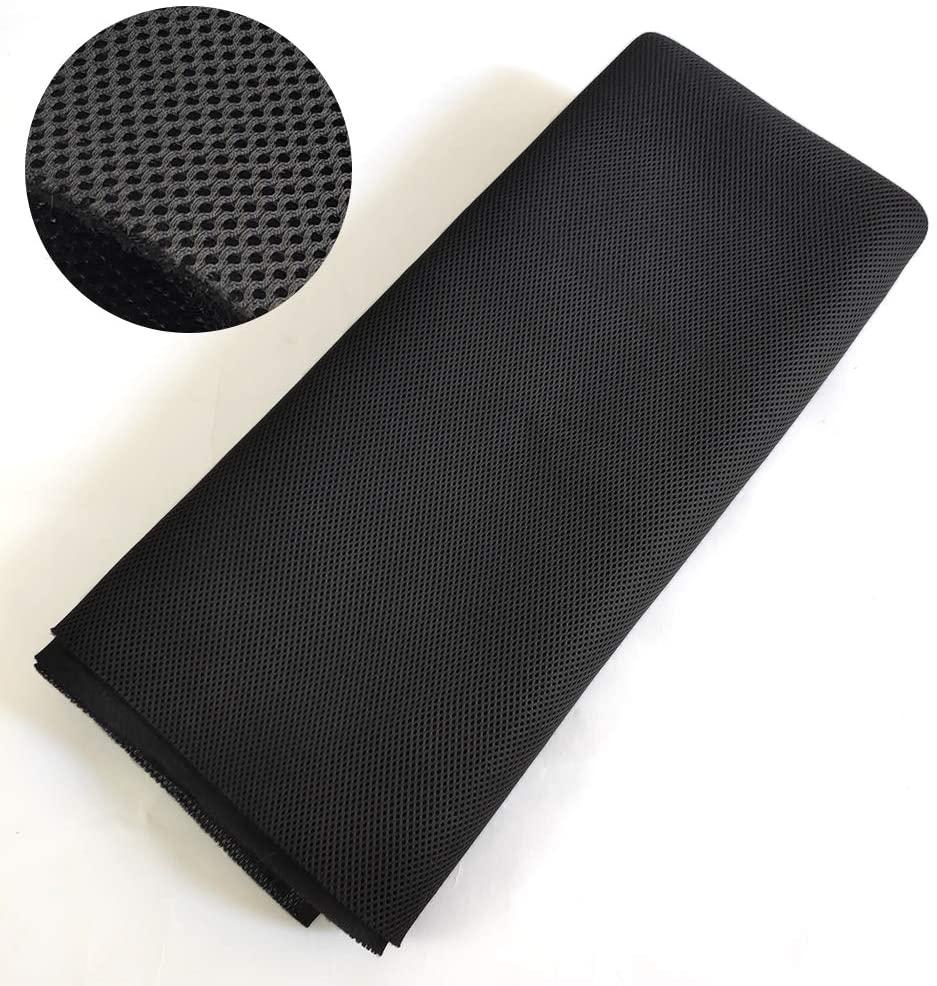 Speaker Grill Cloth Stereo Mesh Fabric for Speaker Repair, Black - 55 x 40 in / 140 x 100 cm