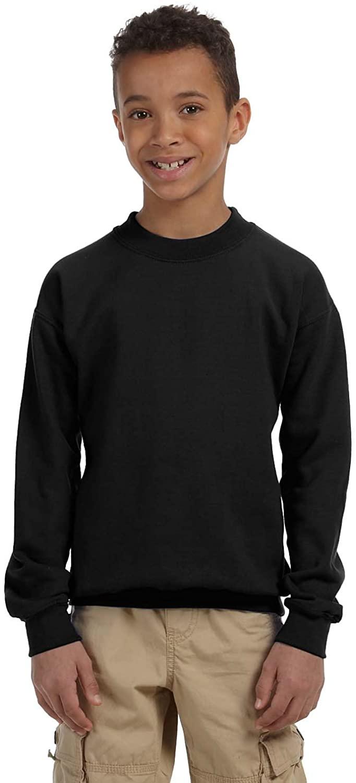 Gildan Big Boys Heavy Blend Crewneck Waistband Sweatshirt, Black, X-Large