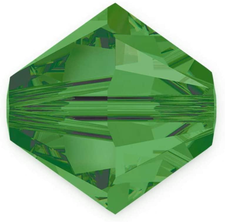 24pcs 8mm Adabele Austrian Bicone Crystal Beads Fern Green Compatible with Swarovski Crystals Preciosa 5301/5328 SSB815