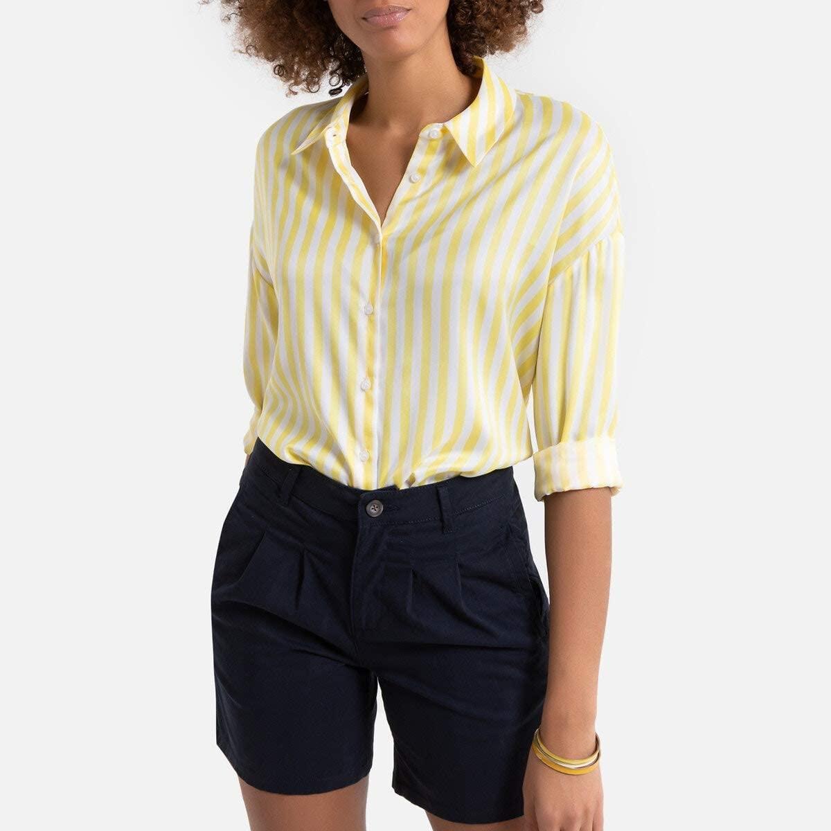 La Redoute Collection Womens Long-Sleeved Boyfriend Shirt