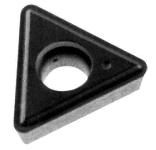 Cobra Carbide 41796 Solid Carbide Turning Insert, C550 Grade, Uncoated (Bright) Finish, TT Style, TT 321, 1/8