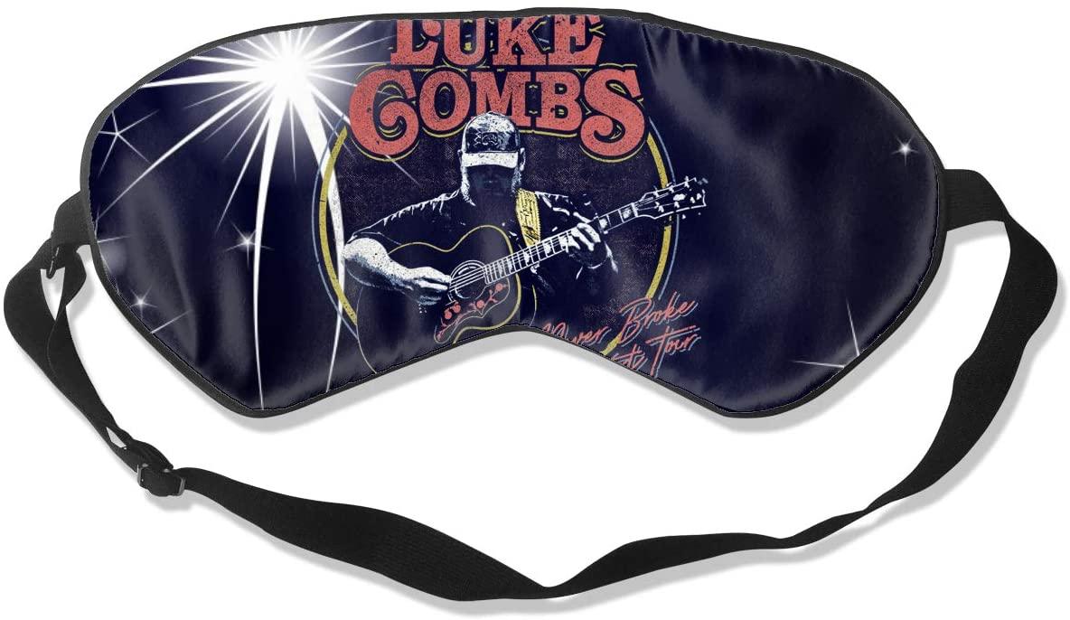 WushXiao Luanelson Luke Combs Fashion Personalized Sleep Eye Mask Soft Comfortable with Adjustable Head Strap Light Blocking Eye Cover
