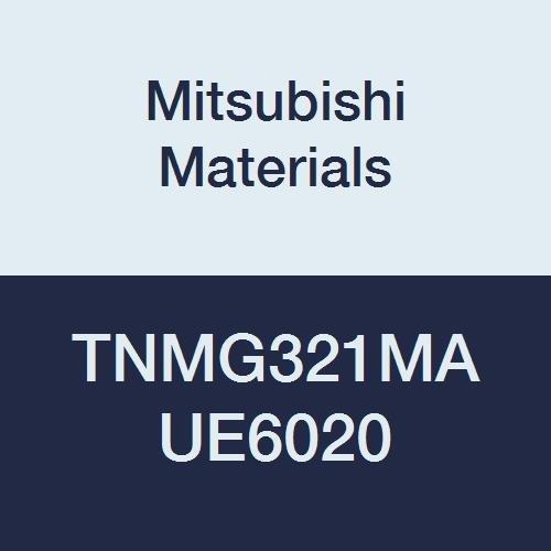 Mitsubishi Materials TNMG321MA UE6020 Coated Carbide TN Type Negative Turning Insert with Hole, Triangular, Grade UE6020, 0.016