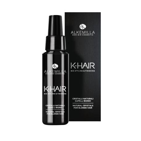 ALKEMILLA - K-Hair - Natural Crystals Blond Hair - Hyper Shining Effect - With Jaluronic Acid and Vitamin E - 50 ml
