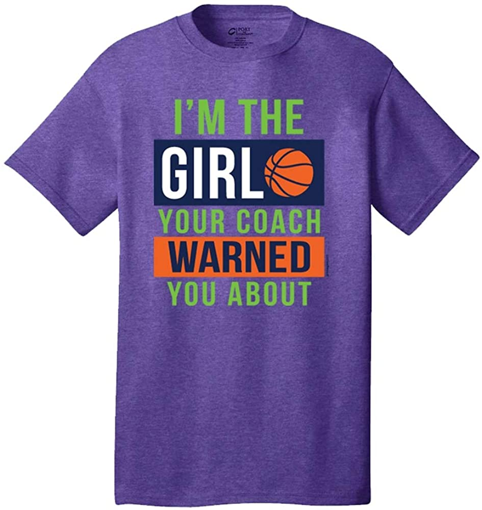 Image Sport - Basketball - I'm The Girl Your Coach Warned You About Heather Purple T-Shirt