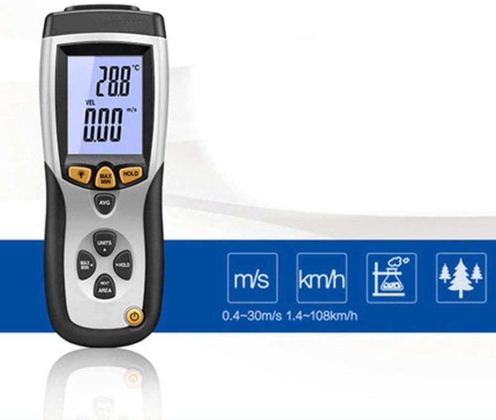 HH-ZZ Multifunctional Handheld Anemometer Digital Anemometer Air Volume Air Temperature Tester (Color Environment Light Meter